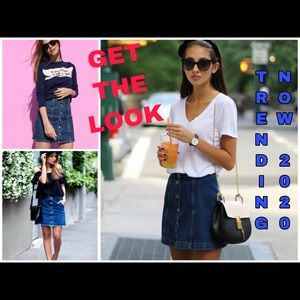 Like new button down jean skirt